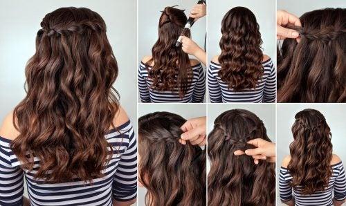 Диадема из кос и прически с косами