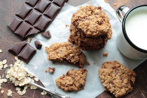 Печенье из овса и шоколада