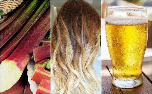 Хочешь осветлить волосы? Попробуй эти 5 домашних рецептов!