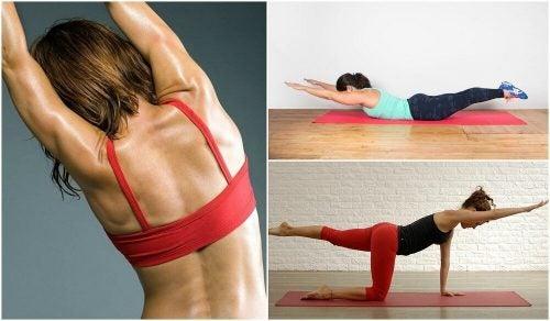 Здоровая спина: 5 полезных упражнений без гантелей