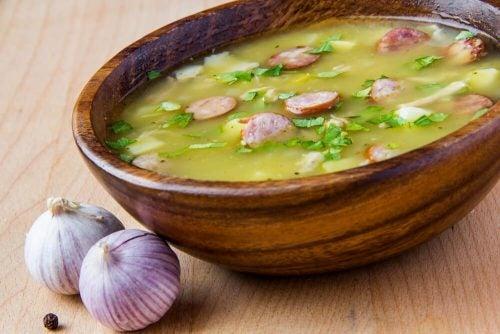Чесночный суп повысит уровень тромбоцитов