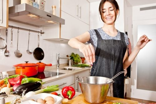 Приготовить овощи на обед