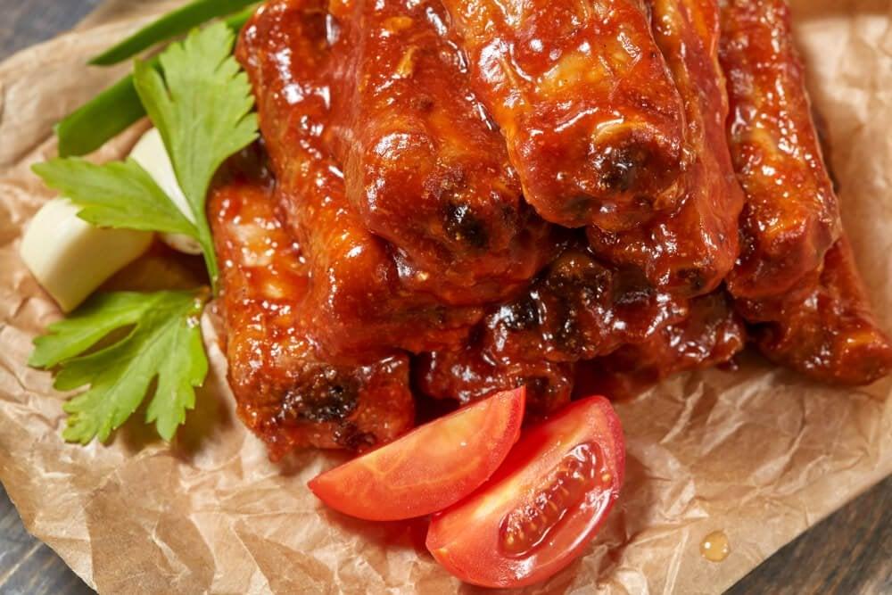Карамельные свиные рёбрышки с мёдом