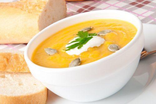 Суп из тыквы со сливками