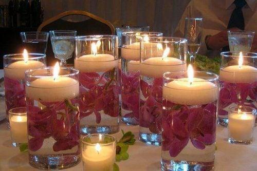 Творческие идеи: стаканы-свечи наполнят уютом ваш дом