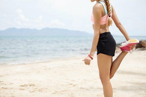 Занятия на пляже
