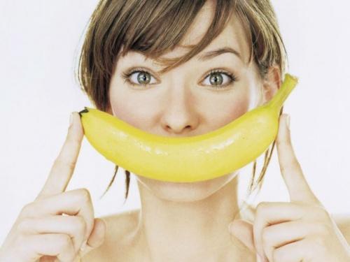 Отбелить зубы бананом