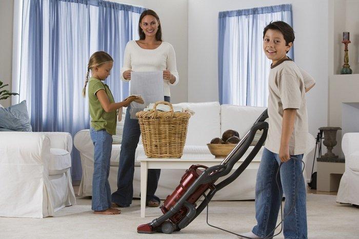 Вместе поддерживать порядок в доме
