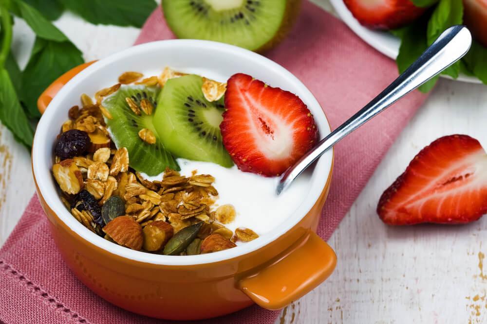 Низкокалорийный завтрак с фруктами