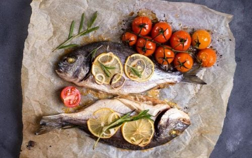 Диетический суп и рыба