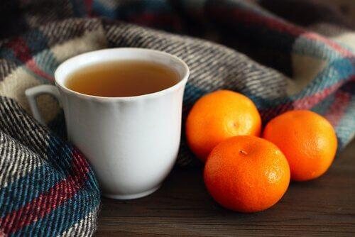 Чай с мандариновой кожурой