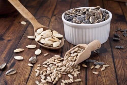 Семена тыквы содержат цинк