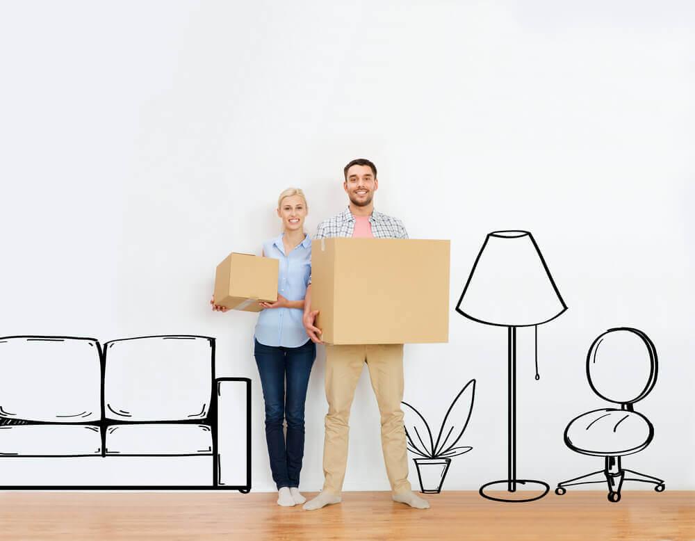 Пара переезжает