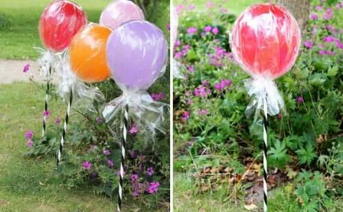 воздушные шары как леденец