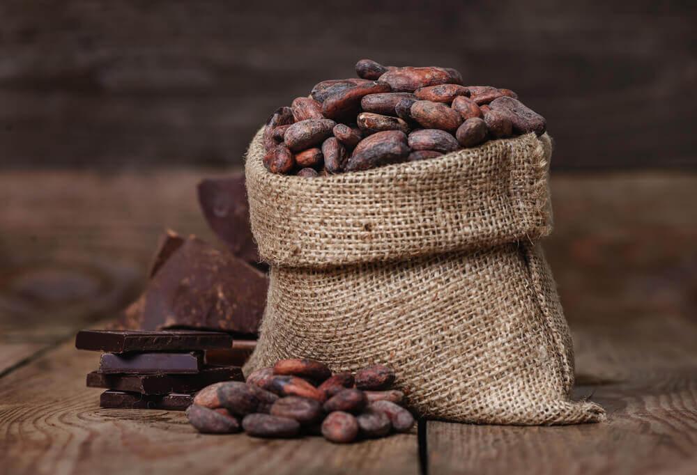 Какао в зернах