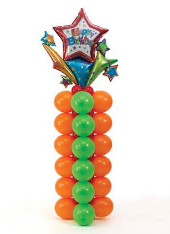 воздушные шары в виде колонны