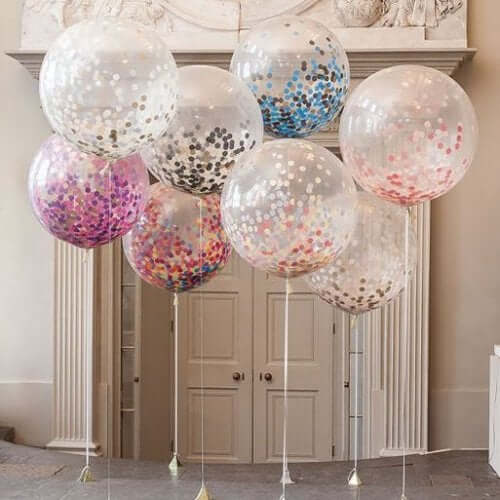 воздушные шары с блестками