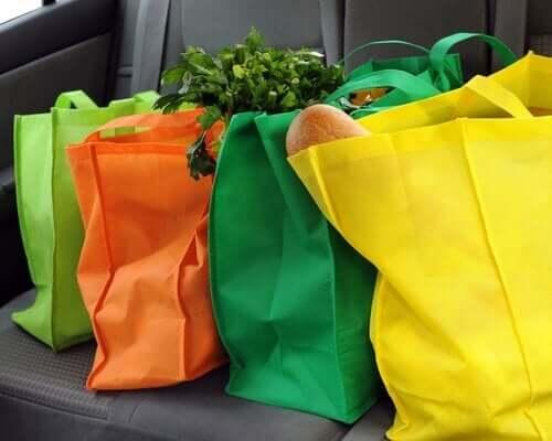 Сшить тканевую сумку разных цветов